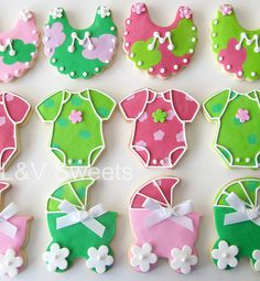 Baby Shower cookies by L&V sweets, via Flickr