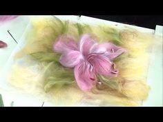 Needle Felted, Nuno Felting, Burlap Flowers, Felt Flowers, Felt Wall Hanging, Felt Pictures, Felt Fairy, Wool Art, Felt Decorations