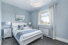 Detached House for sale Fox Hall, Curragha Road, Ratoath, County Meath New Homes For Sale, Property For Sale, Duck Egg Bedroom, 1930s House Interior, Contemporary Shower, Wall Mounted Lamps, Boundary Walls, Timber Panelling, Metal Railings