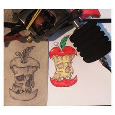#apple, #sketch, #tattoo, #artist, #drawing Apple Sketch, 30 Day Drawing Challenge, Sketch Tattoo, Master Chief, Challenges, Fruit, Drawings, Sketches, Drawing