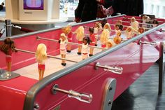 Barbie foosball table