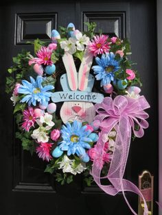 Spring Door Wreath- SALE $25 OFF-Easter WreathEaster Bunny by hollyhillwreaths, $149.99 EMAIL ME AND I WILL REDUCE THE PRICE