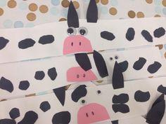 Cow headbands #cow #preschool #farm