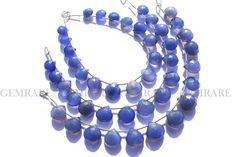 Gemstone, Blue Chalcedony Beads Heart Faceted C, 15 Pieces, CHALCE-038/2