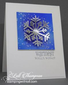 Hi everyone. Today I'm sharing a CAS Watercolour card featuring a snowflake. That's our challenge this month at CAS Watercolour  ... chec...