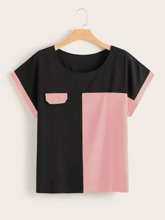 To find out about the Plus Cut And Sew Tee at SHEIN, part of our latest Plus Size T-shirts ready to shop online today! Sewing Shirts, Sewing Clothes, Diy Clothes, Clothes For Women, Plus Size Blouses, Plus Size Dresses, Skirt Fashion, Fashion Dresses, Mode Kimono