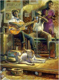 """""""Juke Joint"""" John Carroll Doyle, American Impressionist - Charleston Artist"""