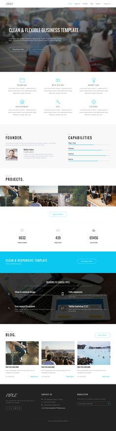 Piple is a simple and minimal Admin + one / multi page template built on HTML/CSS. This template is ideal for Business, Corporate & Portfolio, Personal sites. #Bootstrap #AdminTemplate