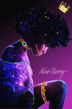 Noir Berry™ Creative photo edits and digital art of woc — Noir Berry™ Re Vamped Oldie but Goodie…. Black Love Art, Black Girl Art, My Black Is Beautiful, Black Girls, African American Art, African Art, Arte Black, Art Et Design, Black Art Pictures