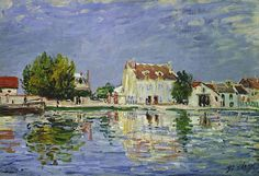 Le Canal du Loing à Saint-Mammès by Alfred Sisley 1885. Spend time walking around the town and discover how beautiful it is.
