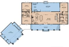 This lovely Farmhouse style home with Country influences (Plan has 2687 square feet of living space. The story floor plan includes 3 bedrooms. Rustic House Plans, Country Style House Plans, Cabin Plans, Craftsman Farmhouse, Farmhouse Style, Rustic Farmhouse, Best House Plans, House Floor Plans, Porch Grill