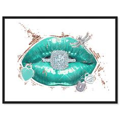 Artwork 'Aqua Mar Lips' features print of Blue Fashion and Glam. Unique Lips with vivid Tiffany Blue hues make this Glam style the perfect decor for your home or office. Oliver Gal was voted Best in Wall Art! Tiffany Blue Wallpapers, Tiffany Art, Tiffany Room, Louis Vuitton Iphone Wallpaper, Oliver Gal Art, Black And White Picture Wall, Fashion Wall Art, Fashion Prints, Fashion Wallpaper