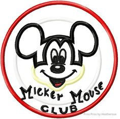 Mister Mouse Club Logo Machine Applique Embroidery Design- Multiple sizes, including 4 inch, $3.75