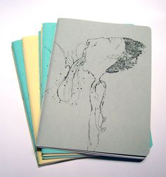 a5 notebooks with illustration