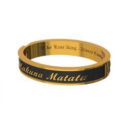 "Disney Couture Lion King Gold-Plated ""Hakuna Matata"" Black Bangle at Zentosa"