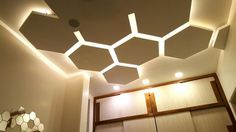false ceiling POP designs for hall with LED lights