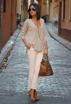 Light Grey Zara Sweater and Very Suitable Cream Pants