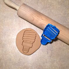 3D Printed Compact Fluorescent Lamp Light Bulb cookie by BoeTech $8.75