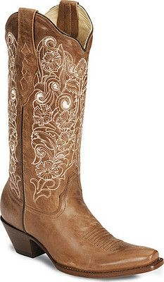 Corral Women's Bone Embroidery Cowgirl Boot