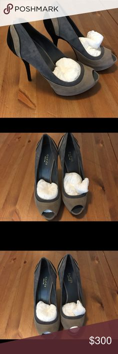Gucci scalloped heels Stunning and NWOB or bag. Simply fall perfection.  Massive closet clean out! Items may be wrinkled from storage. Sellers disclaimer: A few bad apples ruin it for the bunch, so for buyer and seller protection, I record the condition of each item at packaging. No offline transactions. Spammers will be reported and blocked. No trades. No paypal. Lowball offers will be immediately declined. I make every effort to ship within two business days. Gucci Shoes Heels