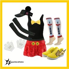 Mickey Mouse Running Costume – Famous Last Words Disney 5k, Disney Races, Disney Shirts, Disney Running, Running Race, Disney Ideas, Mickey Costume, Run Disney Costumes, Running Costumes