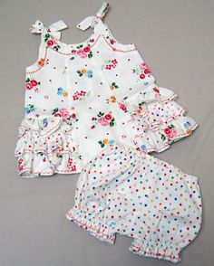 Baby Dress & Bloomer sewing pattern SUNNY DRESS & BLOOMERS Sizes 6 months to 6 years by Felicity Patterns