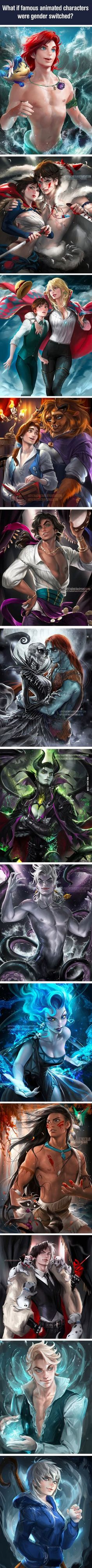 What if famous animated characters were gender switched? - 9GAG