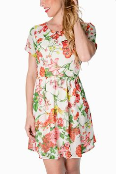 L. Mae Boutique - Citrus Sunrise Blossom Print Dress, $49.14 (http://www.lmaeboutique.com/citrus-sunrise-blossom-print-dress/)