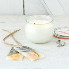 Pressed Flower Sachets, Lavender & Tangerine in House+Home HOME DÉCOR Candles Scented at Terrain