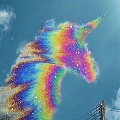 Unicorn uploaded by unicorn_blinkk on We Heart It : Imagen de unicorn, rainbow, and sky Cute Galaxy Wallpaper, Wolf Wallpaper, Rainbow Wallpaper, Cute Wallpaper Backgrounds, Animal Wallpaper, Pretty Wallpapers, Baby Animals Super Cute, Cute Little Animals, Unicorn Pictures