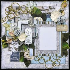 Kaisercraft Provincial - Janine - Paper Flourish: Lesson Information Scrapbooking Layouts, Scrapbook Pages, Card Making Kits, Art For Art Sake, Flourish, Mixed Media Art, Projects To Try, Gallery Wall, Paper Crafts