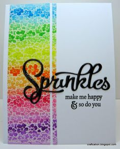 Day 1 of Stretch Your Stamps 2 class: Sprinkles with Papertrey Ink Shakers and Sprinkles kit and Judikins background stamp