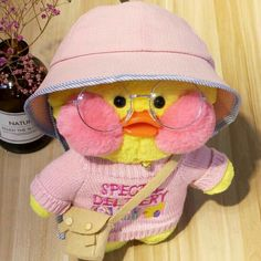 Cafe mimi duck toy fanfanchuu duck toy in 26 styles with a free gift Cafe-Mimi Yellow Duck Plush Toy With Pink Cheek Stuffed Duck Toys Cute Stuffed Animals, Cute Animals, Sock Animals, Cute Ducklings, Film Anime, Duck Toy, Pink Cheeks, Cute Plush, Cute Toys