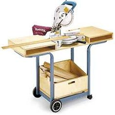 DIY...use an old barbecue grill metal frame to make a stand for your miter saw...