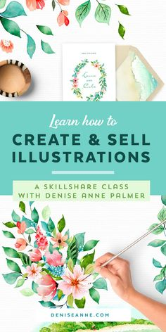 A Skillshare class on how to create and sell watercolor artwork and illustrations online from your home studio. Learn Watercolor Painting, Watercolor Tips, Watercolor Projects, Watercolor Artwork, Watercolor Artists, Watercolor Cards, Watercolor Print, Watercolor Illustration Tutorial, Illustration Art Drawing