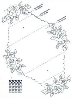 T T roses in each corner envelope Embroidery Transfers, Embroidery Patterns, Hand Embroidery, Beginning Embroidery, Piano Crafts, Parchment Cards, Fancy Fold Cards, Card Patterns, Card Envelopes
