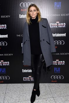 Olivia Palermo at the screening of Captain America: Civil War in New York City.