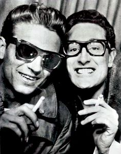 Waylon Jennings and Buddy Holly - 1959 (xpost from r/outlawcountry)