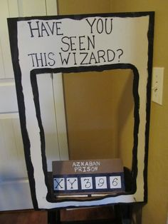 A Harry Potter 7th Birthday! | CatchMyParty.com: Photo Booth Idea