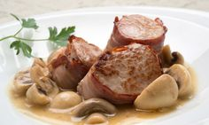 Receta de Solomillo de cerdo con champiñones en salsa