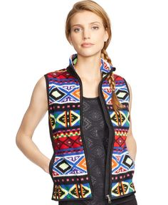 Lauren Ralph Lauren Fair Isle Printed Fleece Vest