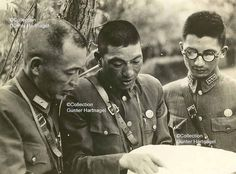 Chinese Commanders of the 88 Division | This photograph is part of the estate of captain H.G. Oehme and was taken in 1937. It shows the commanders of the 88th Division (German trained and equiped), one of the best divisions China had when the war broke out. Oehme was a German military adviser to the Chinese National Government under Chiang Kai-shek. For further information about him, check the set 'China, German Military Adviser, Oehme'.