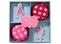 girly cupcake vormpjes en toppers princess