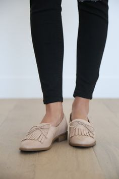 The loafer runs 1/2 size big, so please size down. For example: size 7 = size 6.5 Material: manmade Heel height: 1""