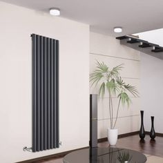 Hudson Reed Savy Design Radiator - 1600mm x 472mm - 1569Watt - Antraciet