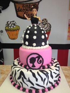 Barbie Birthday Cake haha cute! Yes please!
