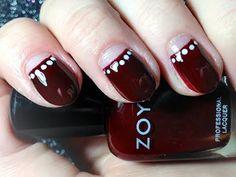 1920s nails / Half-Moon Manicure, NikkieTutorials.com