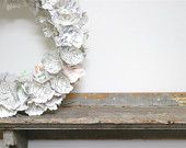 paper peony wreath & cente...