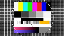 The famous TV broadcast test card