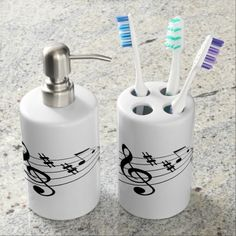 music notes bathroom set